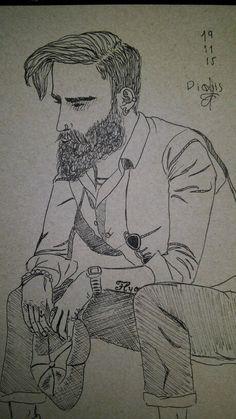 Art Drawing Man Beard