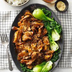 Sesame Pork Roast Pork And Beef Recipe, Pork Roast Recipes, Pork Tenderloin Recipes, Pork Meals, Freezer Meals, Slow Cooker Soup, Slow Cooker Recipes, Cooking Recipes, Crockpot Recipes