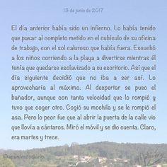 13 de junio de 2017 : #MicrocuentoZ #: #martes13 #martes #martesy13 #malasuerte #microcuento #microcuentos #microcuentos2017 #microrrelato  #apuntesdediario #cuento #breve #literatura #relato #texto #text #artistsoninstagram  #junio #june #201706 #mediodia #noon #cielo #blue #azul