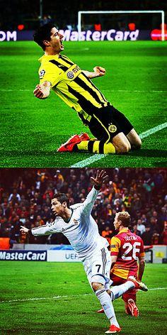 Borussia Dortmund and Real Madrid - 2012/13 UEFA #ChampionsLeague Semi-Finalists!