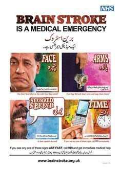 Urdu Brain Stroke Awareness poster