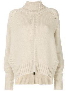 0392e7ff91dbf Isabel Marant Свободный Джемпер с Отворотом - Farfetch. White  TurtleneckRibbed SweaterKnitting ...