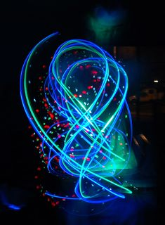 Create fun pictures with glow sticks