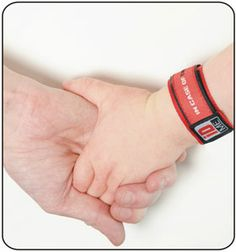 Mum & Liam holding hands with red IDME wristband Dragons Den, Red Panda, Baby Safe, Special Needs, Autism, Holding Hands, Lost, Medical, Ice