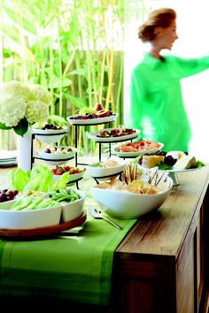 Create an eye-catching buffet display for the gift opening. #FoodNetwork #wedding #Kohls