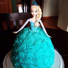 Elsa Barbie Cake
