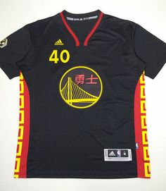 nba 40 barnes warriors chinese new year jersey with sleeve - Warriors Chinese New Year Jersey