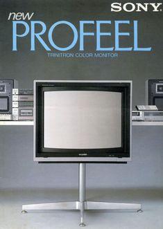 Sony New Profeel Electronics Projects, Sony Electronics, Tvs, Radios, Sony Design, Hi Fi System, Wood Supply, Retro Advertising, Vintage Tv