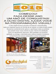 Olhodigital.art.br - Visite nossa página, conheça nossos produtos e serviços em Comunicação Visual - comercial@olhodigital.art.br - faça-nos uma consulta.