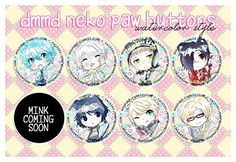 DRAMAtical Murder Game Anime Button Pin Accessory (Aoba, Noiz, Clear, Ren, Koujaku, Trip, Virus)  http://topcellulardeals.com/product/dramatical-murder-game-anime-button-pin-accessory-aoba-noiz-clear-ren-koujaku-trip-virus/  Size: 1.5″ Theme: Nekomimi No watermarks are included on the actual buttons.
