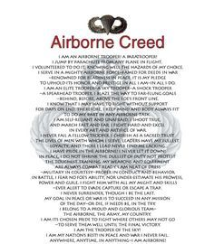 Airborne Creed- my Dad - 101st Airborne!!
