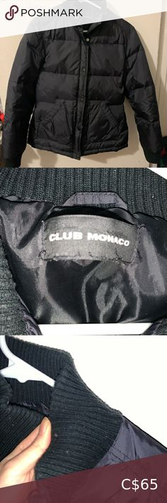 Club Monaco Black Coat Puffer Not super thick One small hole on the inside, see last photo Little bit of pilling near sleeves Club Monaco Jackets & Coats Puffers Plus Fashion, Fashion Tips, Fashion Trends, Club Monaco, Jackets For Women, Leather Jacket, Coats, Sleeves, Closet