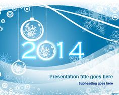 Happy New Year 2014 PowerPoint Template #PowerPoint #2014 #templates #presentations #newyear