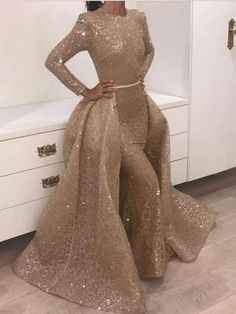 Gold Prom Dresses, Prom Dresses Long With Sleeves, Mid Length Dresses, Mermaid Prom Dresses, Quinceanera Dresses, Bridesmaid Dresses, Silver Evening Dresses, Wedding Dresses, Gold Long Sleeve Dress