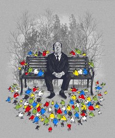 The (Angry) Birds. Alfred Hitchcock