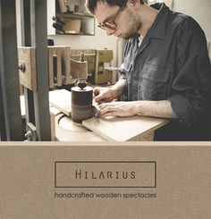 Take a peek at one of the stages of handicraft production of our wooden spectacles. Do you want to see more?  Visit our new website www.hilarius.pl