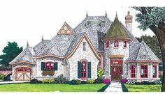 Eplans French Country House Plan - Fairytale Cottage - 2847 Square Feet and 3 Bedrooms from Eplans - House Plan Code HWEPL68932