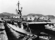 USS Hancock CVA CV-19 Essex class Aircraft Carrier US Navy North Vietnam, Vietnam War, Uss Hancock, Essex Class, Subic Bay, Go Navy, Leyte, Flight Deck, United States Navy
