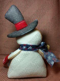 My Flakey Friend Pattern # 294 Primitive Doll Pattern Christmas Winter Snowman Snowflake Fiber Art Whimsical Shelf Sitter Holiday decorations Primitive Doll Patterns, Christmas Crafts, Christmas Ornaments, Christmas Snowman, Cover Pages, Primitives, 4th Of July Wreath, Wool Felt, Happy Shopping