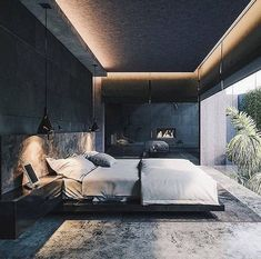 [New] The 10 All-Time Best Home Decor (Right Now) - Ideas by Mary Weeks - Dark tone Bedroom ; This master bedroom design was completed by Serbian designer Branko Matic to create a luxury and personality space with dark grey tone Modern Bedroom Decor, Master Bedroom Design, Bedroom Bed, Bedroom Ideas For Men Modern, Luxury Bedroom Design, Modern Master Bedroom, Master Bedrooms, Bedroom Designs, Girls Bedroom