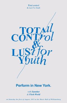 total control and lust for youth