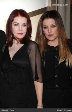 Priscilla and Lisa Marie Presley