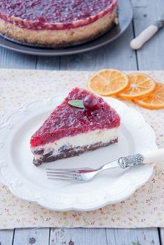 Tvarohový  koláč  s  brusnicami  a  s  pomarančom