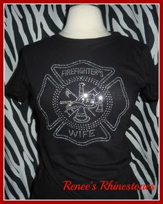 RESERVED Firefighters Wife T shirt -Proud to be a Firefighters Wife via Etsy