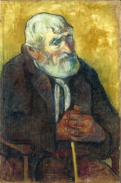 Old Man with a Stick by Paul Gauguin France)