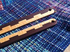 """Who would have thought lease sticks could be beautiful?    Pair of 28"""" Handmade Inch (Lease) Sticks - Your Choice of Wood - Handmade Handweaving Tool"""