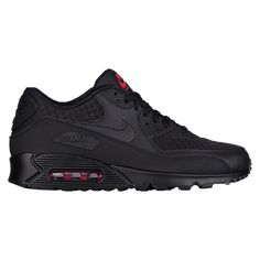 Nike Air Max 90 - Men's at Champs Sports black Cute Nike Shoes, Black Nike Shoes, Nike Air Shoes, Nike Shoes Outfits, Best Sneakers, Casual Sneakers, Sneakers Nike, Mens Puma Shoes, Nike Air Max 90s