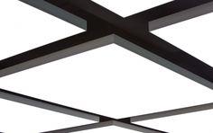 Lichtplafond bestaande uit een reeks van Lumicovers light cell  - square