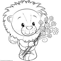 Little Lion 7 Coloring Pages Monkey Coloring Pages, Adult Coloring Book Pages, Cute Coloring Pages, Animal Coloring Pages, Coloring Sheets, Coloring Books, Disney Letters, Birth Certificate Template, Christmas Drawing