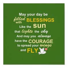Irish Blessing for Courage - Typography inspirational print in green poster / Print from zazzle