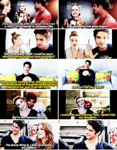 Teen Wolf cast - Holland Roden and Tyler Posey