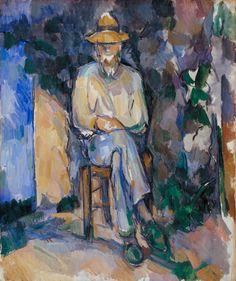Paul Cézanne (1839-1906) - Le Jardinier Vallier, 1906, huile sur toile, 654 x 549 mm source : http://www.tate.org.uk