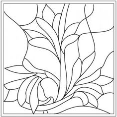 Source for Stained Glass Patterns (designs I use for stain glass quilt ideas) This would be great for applique patterns
