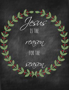 Jesus is the reason for the season printable.
