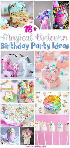 Over 18 Magical Unicorn Birthday Party Ideas Are you in the midst of planning a birthday party? Unicorn themed parties have been hot for a while now. Here is a magical guide to over 18 unicorn birthday Rainbow Unicorn Party, Unicorn Themed Birthday Party, Unicorn Birthday Parties, Birthday Fun, First Birthday Parties, Birthday Party Decorations, First Birthdays, Birthday Ideas, History Of Birthdays