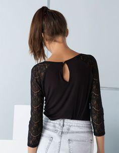 OMG LOVEEEE - Bershka Netherlands -Shirts Bershka met kanten mouwen
