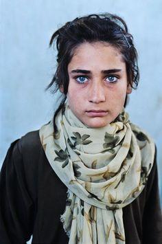 Afghani girl with beautiful blue eyes !