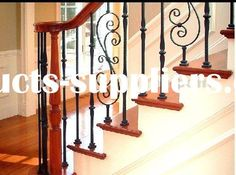 outdoor stair railings | wrought iron stair railing Material wrought iron stair railing Surface ...