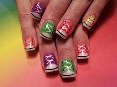Converse tennis shoe nails - Nail Art Gallery by NAILS Magazine