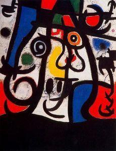 Dona i ocells - (Joan Miro) abstrato, mulheres