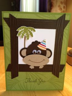 Monkey Thanks by mfb - Cards and Paper Crafts at Splitcoaststampers