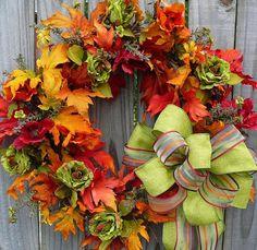 Fall Wreath Ideas | 101 cool fall wreath ideas photo 35 fall wreath9 271x300 fall wreath ...