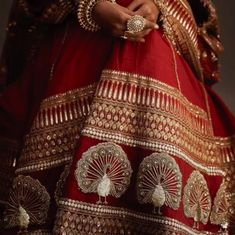 Image discovered by athena. Find images and videos about red, wedding and bridal on We Heart It - the app to get lost in what you love. Indian Bridal Outfits, Indian Bridal Lehenga, Indian Bridal Wear, Rajasthani Lehenga, Red Lehenga, Bridal Dresses, Saree, Wedding Lehnga, Red Wedding