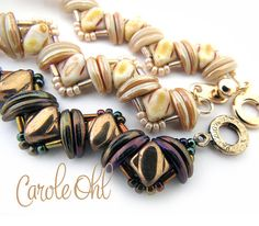 Bundled Silk Bracelet Tutorial by Carole Ohl