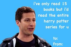 put on a smile, pork chop — Brooklyn Nine-Nine + Valentine's Cards Meme Valentines Cards, Valentines Gifts For Boyfriend, Valentines For Kids, Naughty Valentines, Valentine Ideas, Brooklyn Nine Nine Funny, Brooklyn 9 9, Charles Boyle, Jake And Amy