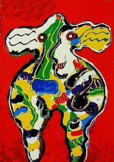Peter Diem, Rode koe  30 x 40